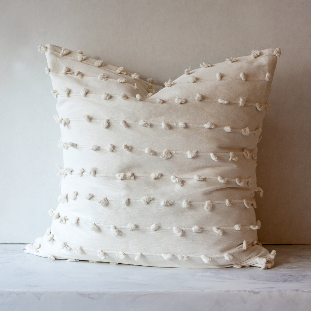Puff euro pillow in cream