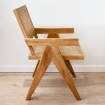 Harlan Chair with teak and cane