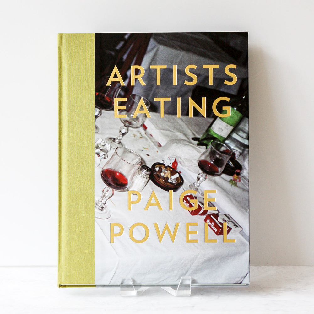 Artists Eating book by photographer Paige Powell