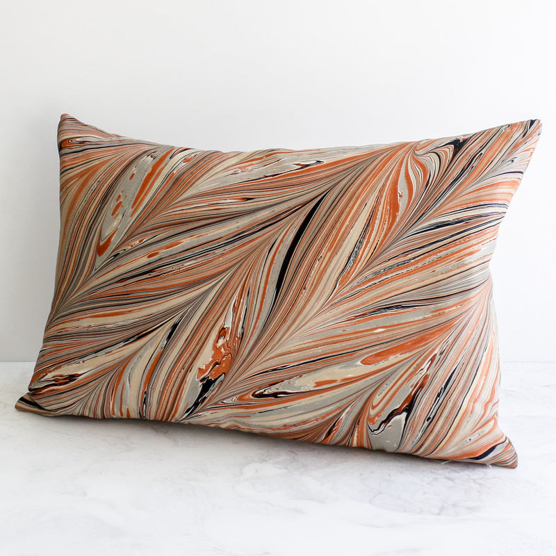 Serpentine Lumbar Pillow in red desert