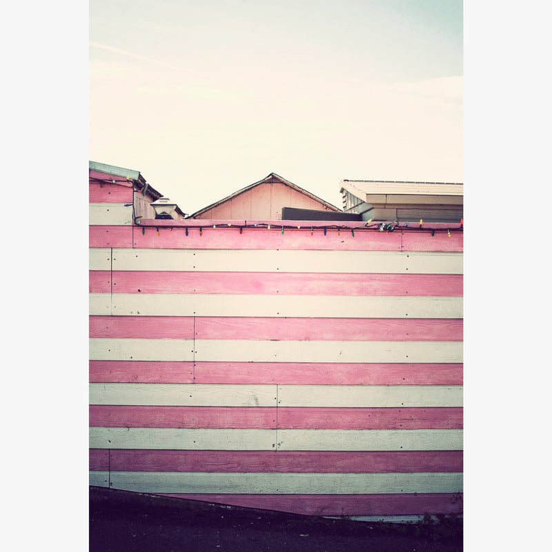 Pink striped wall photographed by Sara Ferguson titled Bodega Bay
