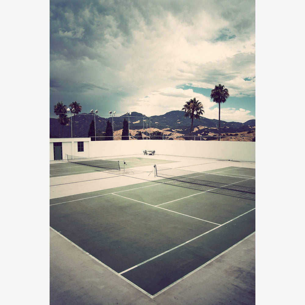 Tennis court in San Simeon, CA photograph by Sara Ferguson