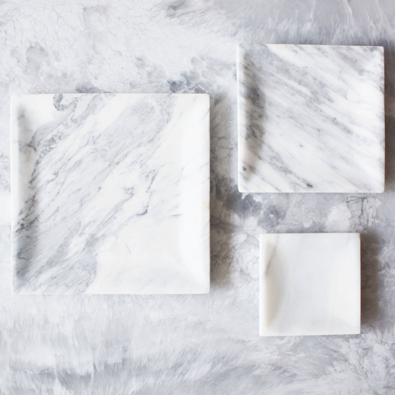 Marble Square Trays
