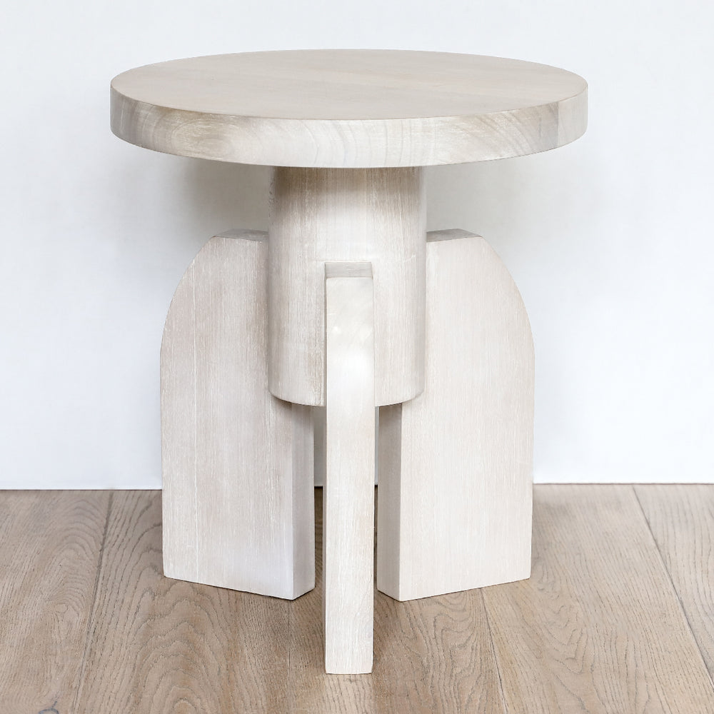 Rocket Man Side Table in a washed wood finish by Sublime Original Furniture
