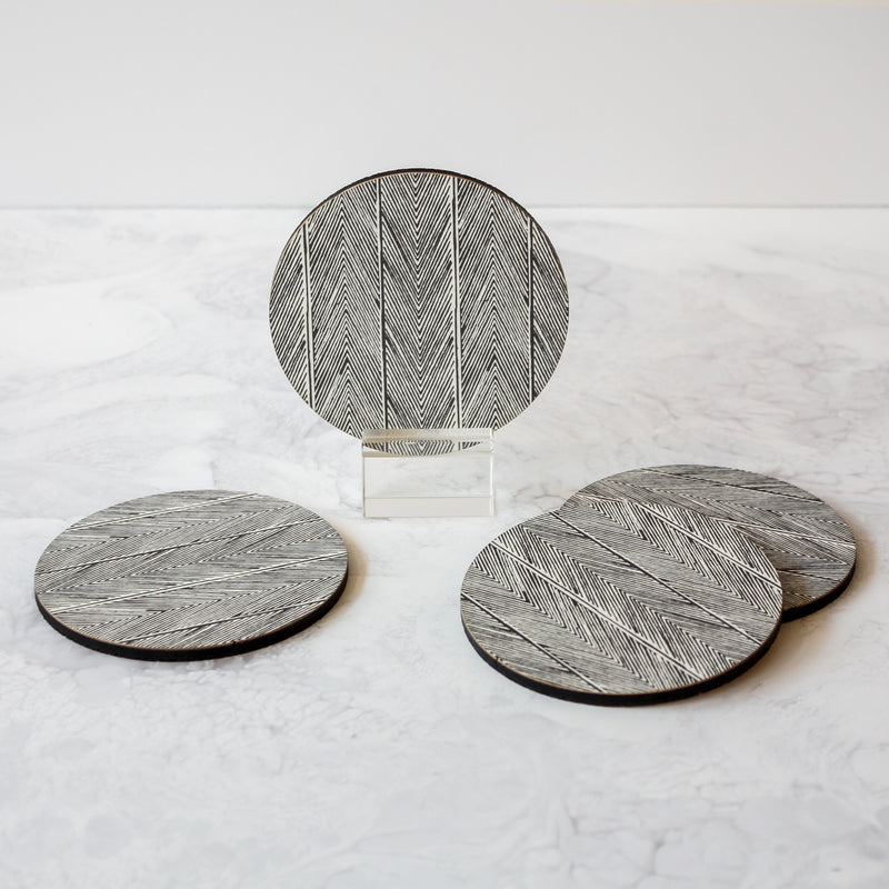Printed Coasters - Herringbone