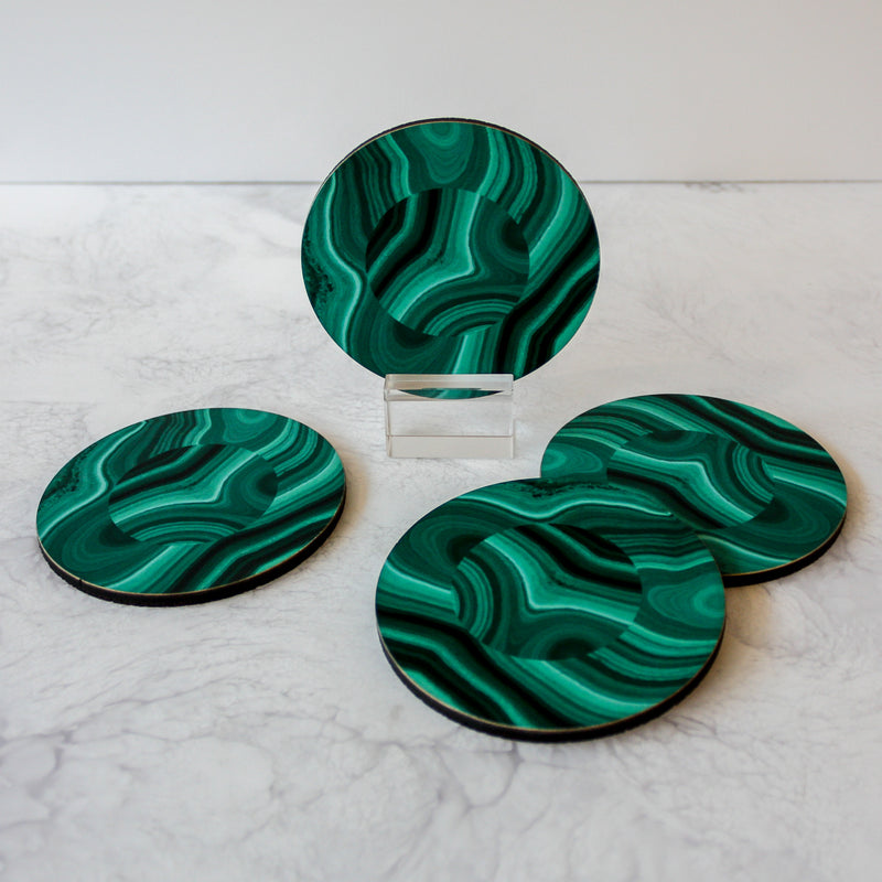 green malachite coasters