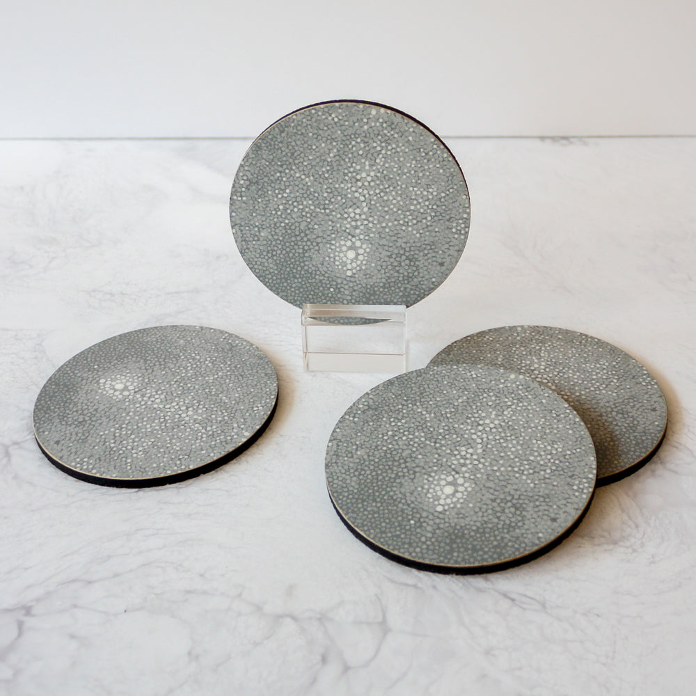 Printed Coasters - Shagreen in gray