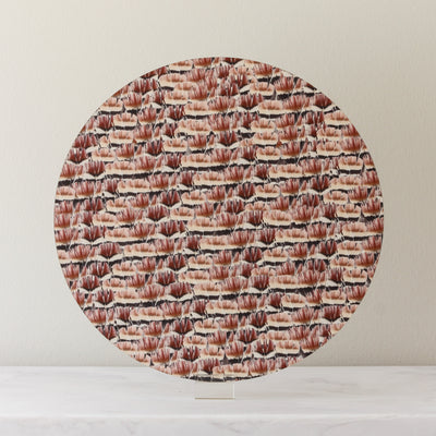 red pheasant feathers placemat