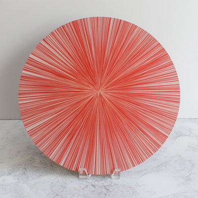 Lines placemats in coral pink