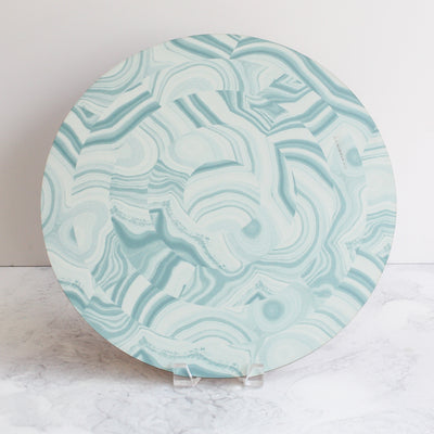 Malachite placemats in mineral