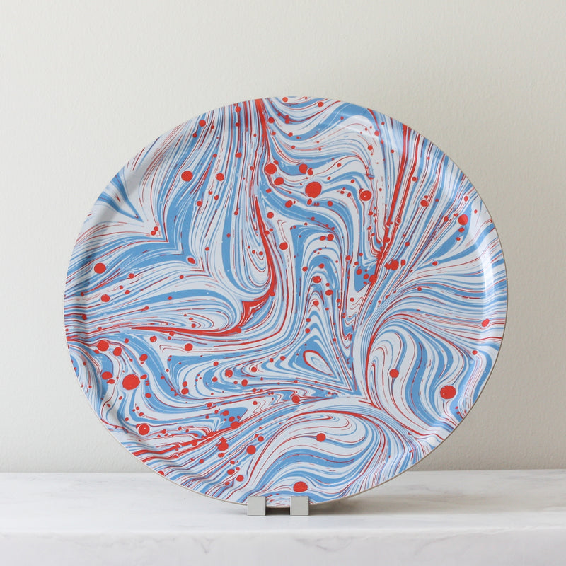 Marbleized Round Tray