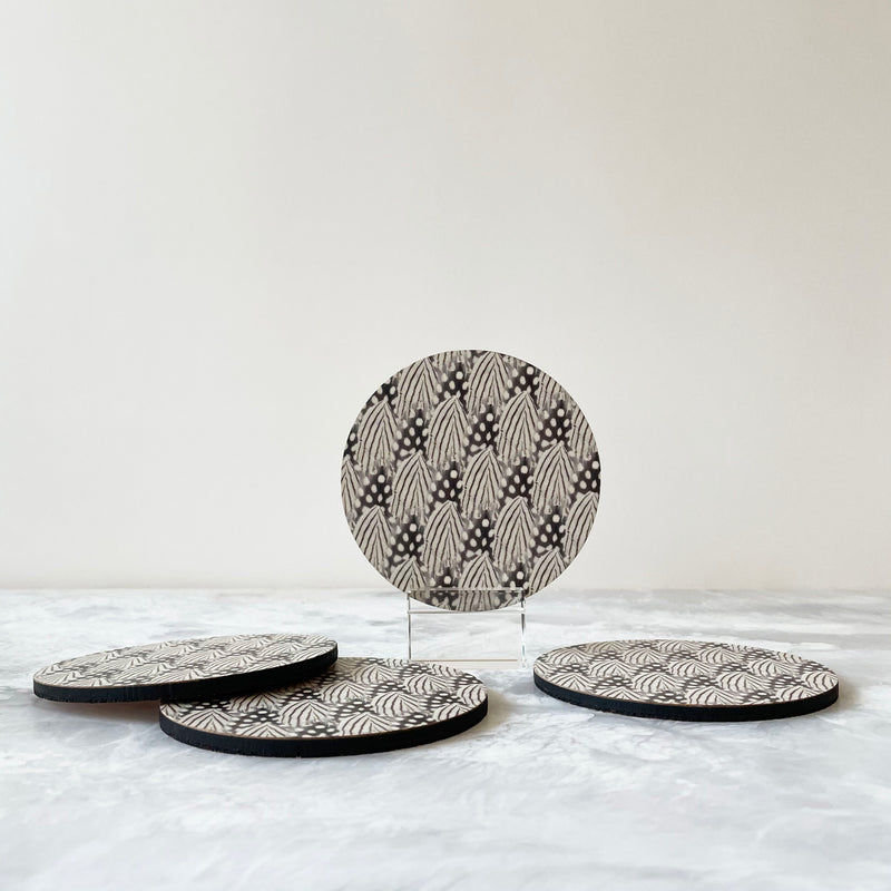 Printed Coasters - Feathers