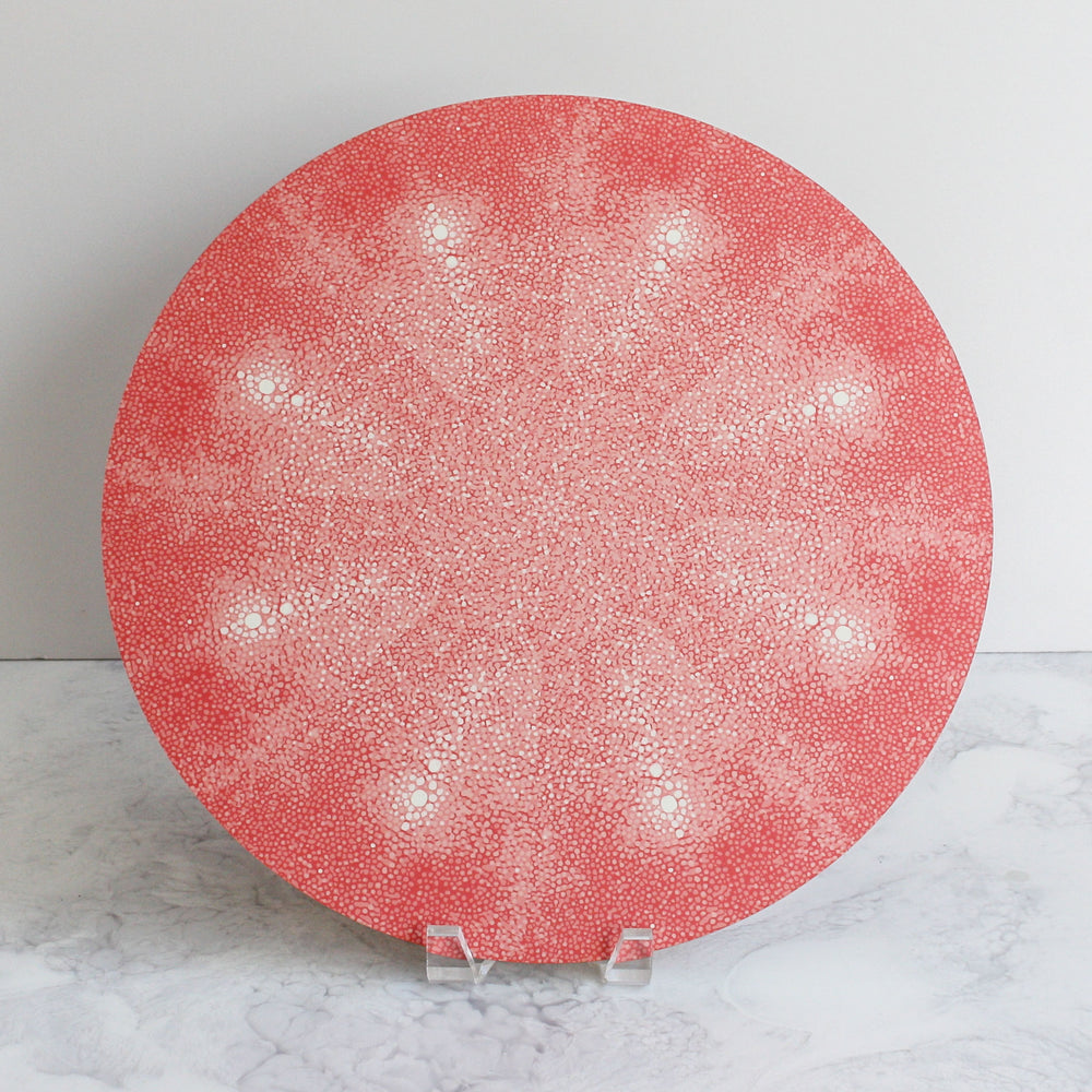Shagreen placemats in coral pink
