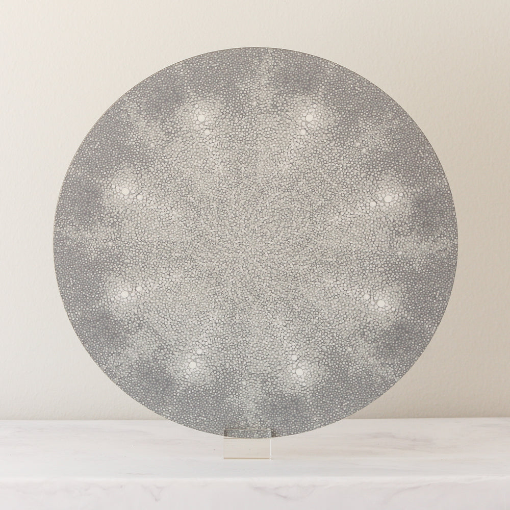 Shagreen placemats in gray