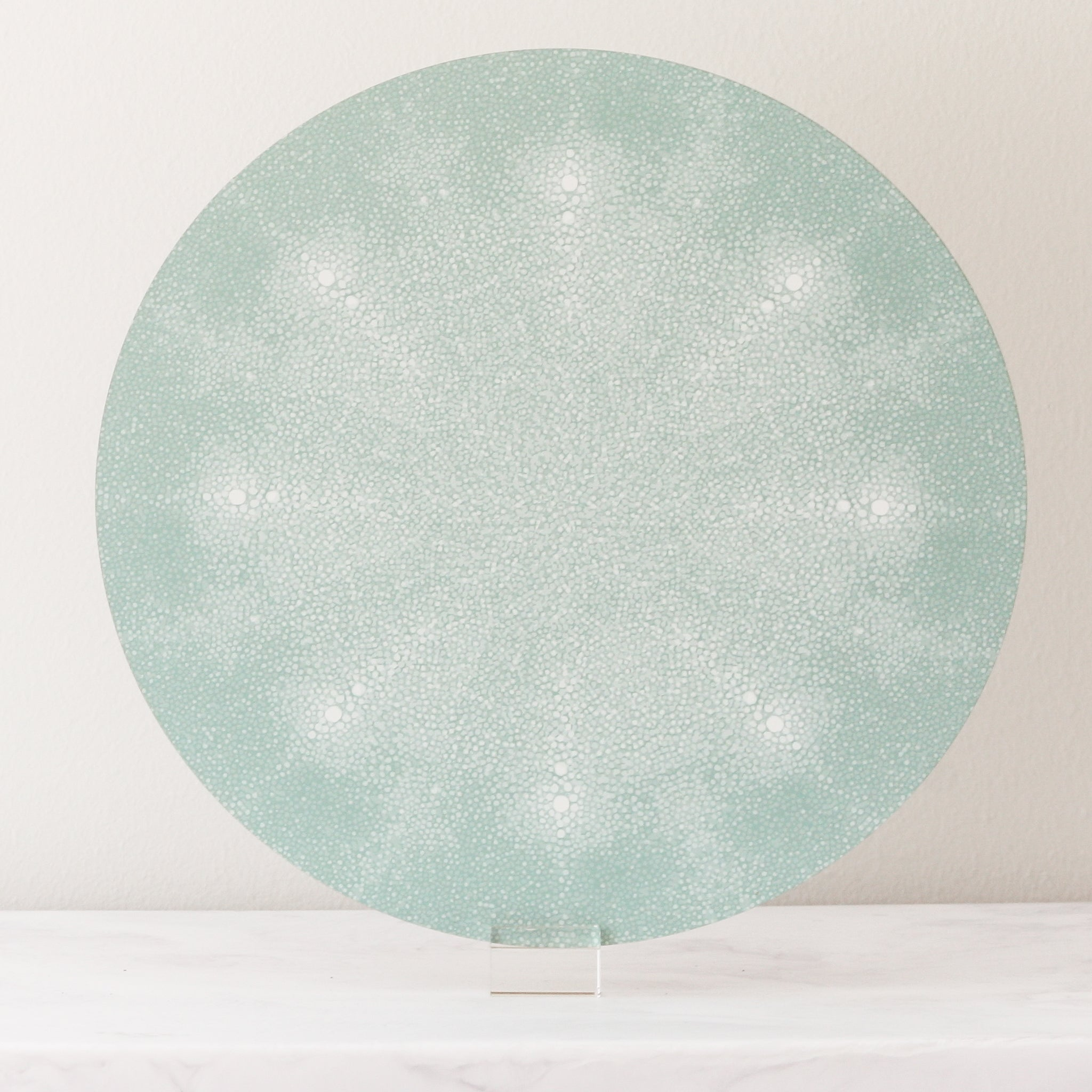 light green shagreen placemats
