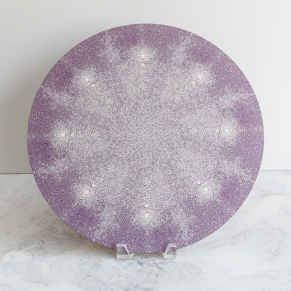 Shagreen placemats in lilac purple
