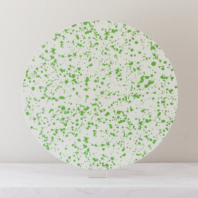 Green splatter placemats