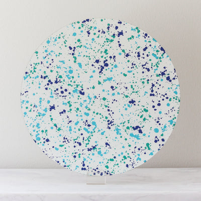 Mediterranean splatter placemats made of cork and wood by Tisch New York