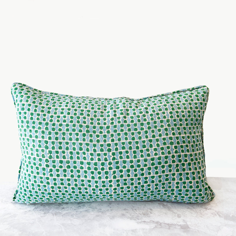Jali Emerald Lumbar Cushion