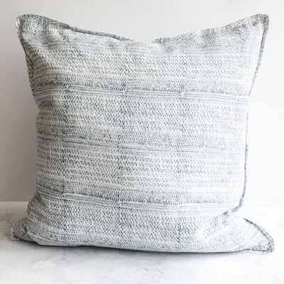 Kantha Dusk Blue Pillow