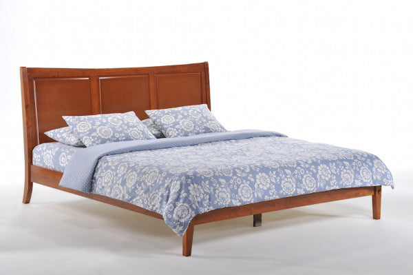 Saffron-Hardwood-Platform-Bed-Frame-in-Cherry-Finish