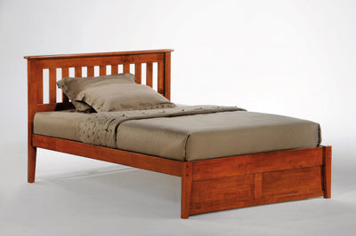 Rosemary-Bed-Frame-with-optional-drawers-in-cherry-finish