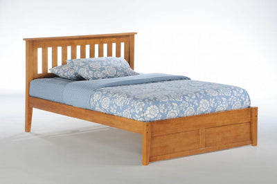 Rosemary-Bed-Frame-with-optional-drawers-in-medium-oak-finish