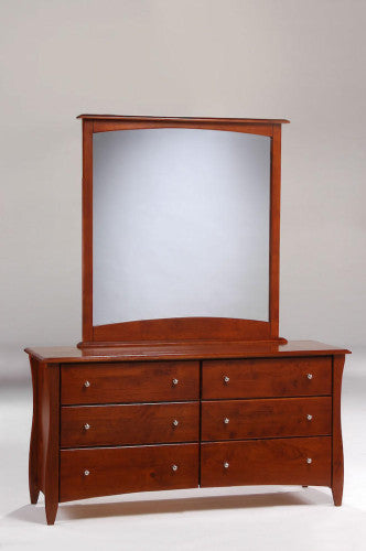 Solid-Wood-Chest-of-6-Drawers-and-Mirror-Cherry
