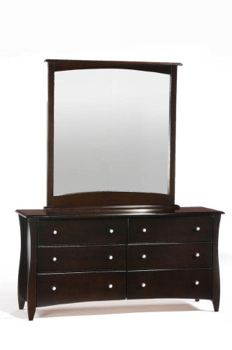 Solid-Wood-Dresser-6-Drawers-and-Mirror-Chocolate