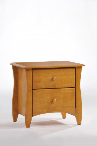 Solid-Wood-Nightstand-Side Tables-Medium-Oak