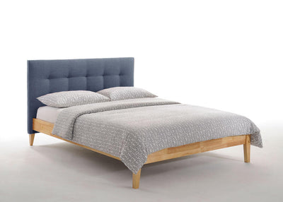 Charcoal-Upholstered-Headboard-Bed-Frame-in-Natural-Finish