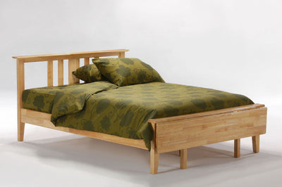 Thyme-Hardwood-Bed-frame-in-Medium-Oak-Finish-with-Optional-foot-board-(down-position)