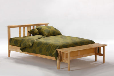 Thyme-Hardwood-Bed-frame-in-Medium-Oak-Finish-with-Optional-foot-board-(up position)