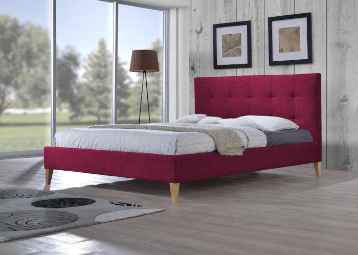 Sage-Fabric-Upholstered-Bed-in-Red
