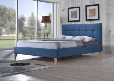 Sage-Fabric-Upholstered-Bed-Frame-in-Teal
