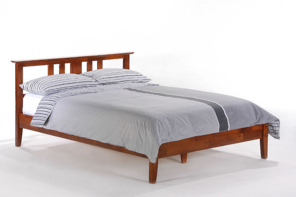 Thyme-Hardwood-Bed-frame-in-Cherry-Finish