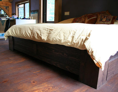 Wood-bed-frame