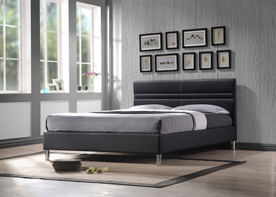 Vinyl-Upholstered-Bed-Frame-grey