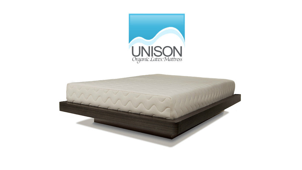 Unison organic latex mattress made in Canada