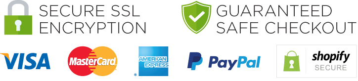 Memory Foam Comfort Seal of Trust by Shopify: Now Accepting AmEx, MasterCard, Visa and PayPal