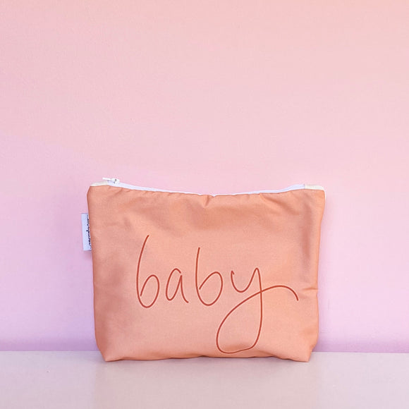 Handwritten ~baby~ Nappy Clutch