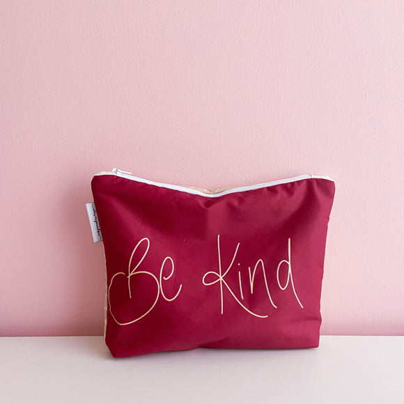 Handwritten ~be kind~ Nappy Clutch