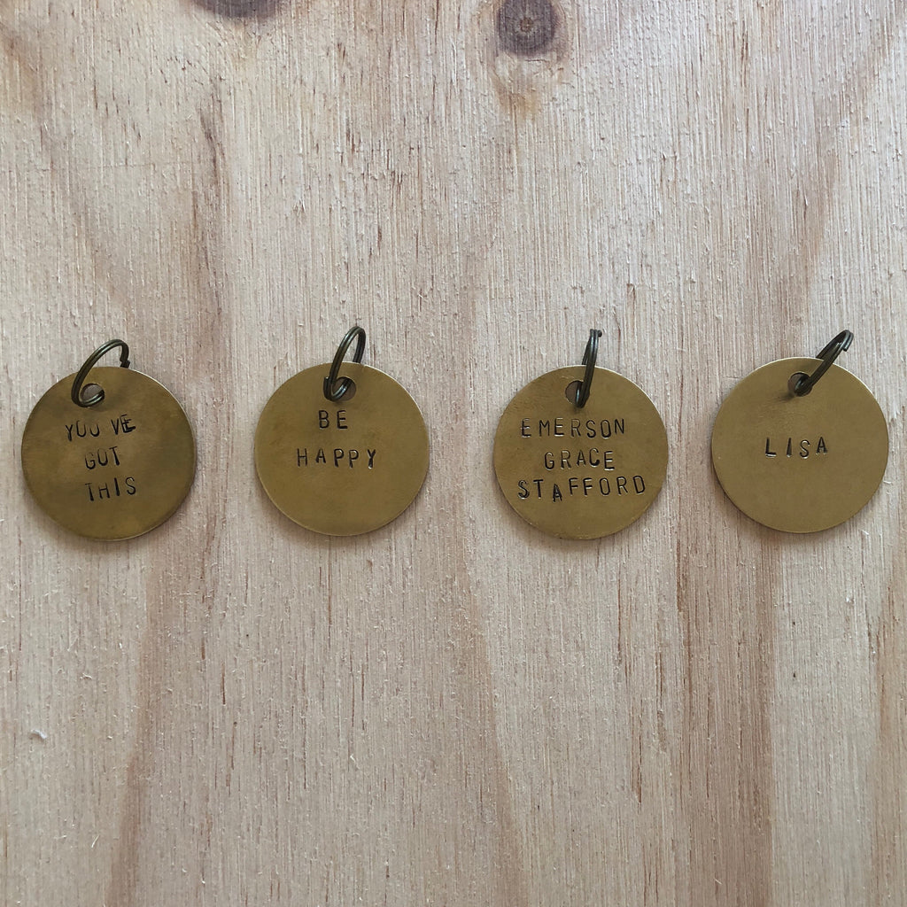 Personalised Brass Tag Key Rings