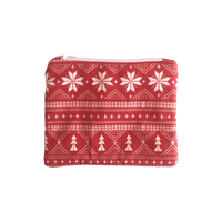 Mini Christmas Red Nordic Clutch