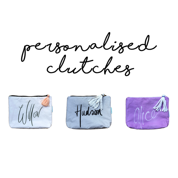 Custom Personalised Clutches