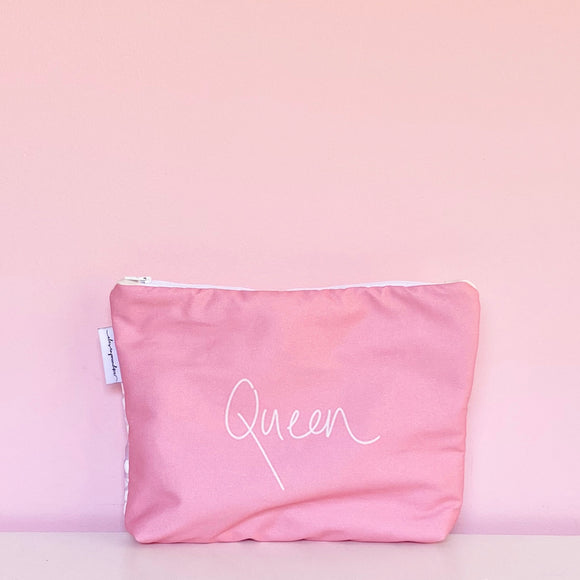 Handwritten ~queen~ Nappy Clutch