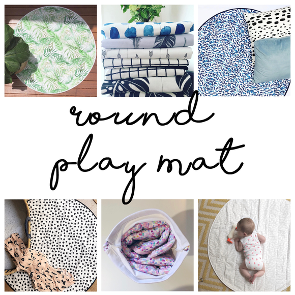 Custom Round Play Mat