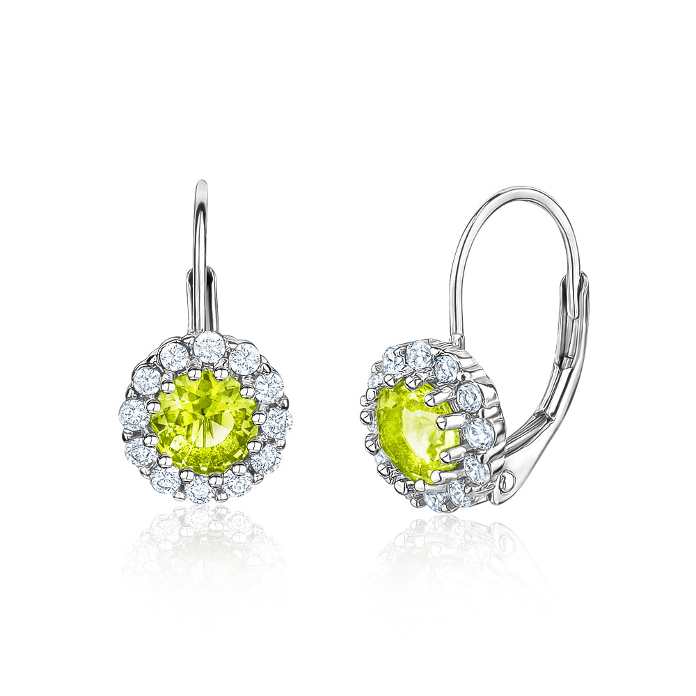 e74dc5e1b21a5 August Birthstone Earrings in Sterling Silver with CZ