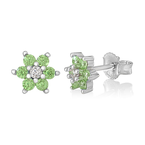 Girls Silver August Birthstone Earring Italy B078RCHT2N UJEP 5103 SRH AG