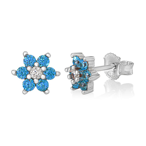 Childrens Silver December Birthstone Earring Italy B078RCFNRZ UJEP 5103 SRH DC
